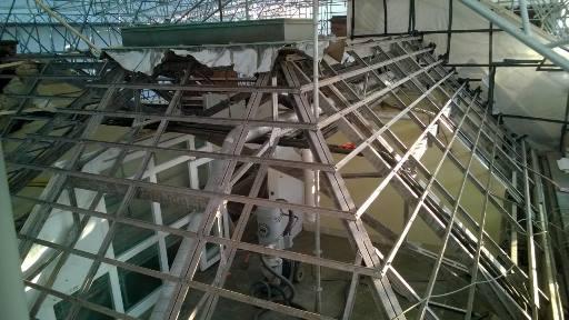 Sablage de la charpente métallique du Palais du Rhin